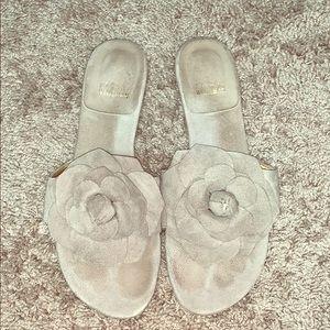 Stuart Weitzman Gray Suede Sandals